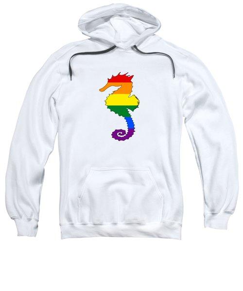 Rainbow Seahorse Sweatshirt by Mordax Furittus