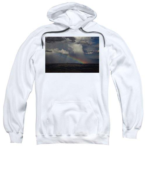 Rainbow Storm Over The Verde Valley Arizona Sweatshirt