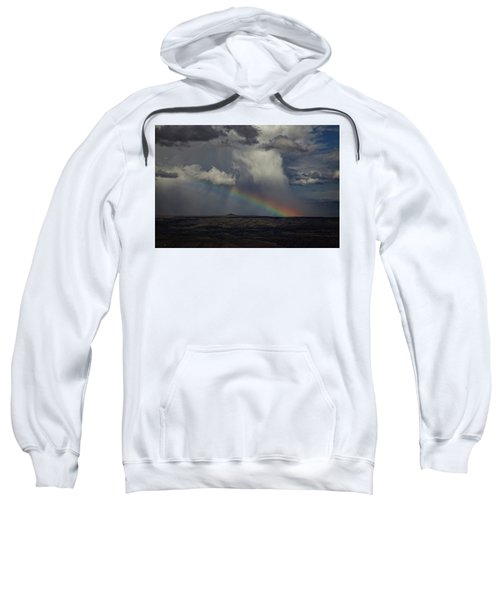 Rainbow Storm Over The Verde Valley Arizona Sweatshirt