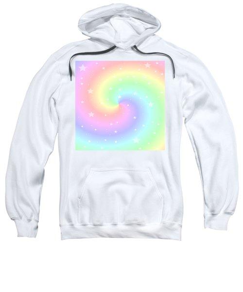 Rainbow Swirl With Stars Sweatshirt