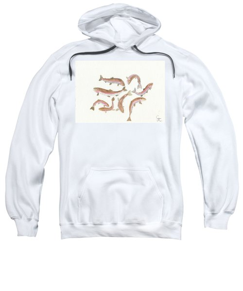Rainbow Trout Sweatshirt by Gareth Coombs
