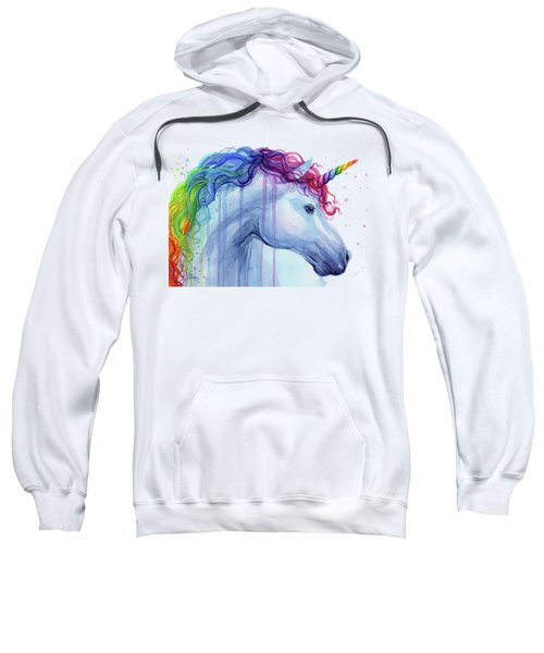 Rainbow Unicorn Watercolor Sweatshirt