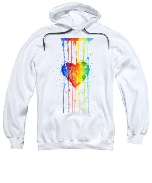 Rainbow Watercolor Heart Sweatshirt