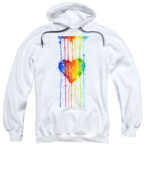 Rainbow Watercolor Heart Sweatshirt