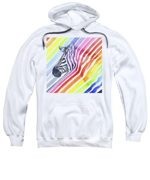 Rainbow Zebra Pattern Sweatshirt