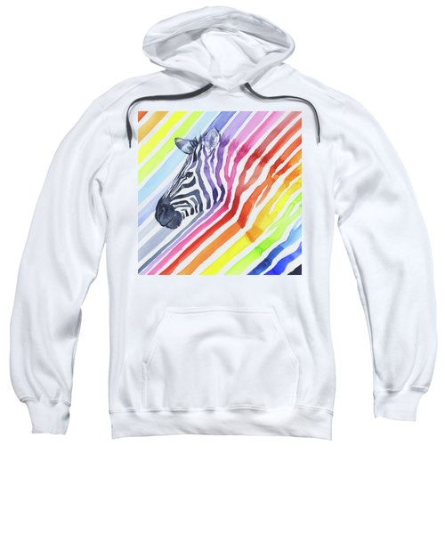 Rainbow Zebra Pattern Sweatshirt