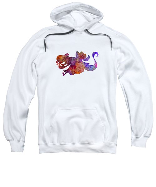 Rapunzel And Partner 01 In Watercolor Sweatshirt