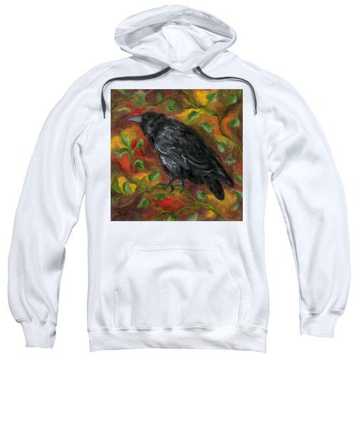 Raven In Autumn Sweatshirt