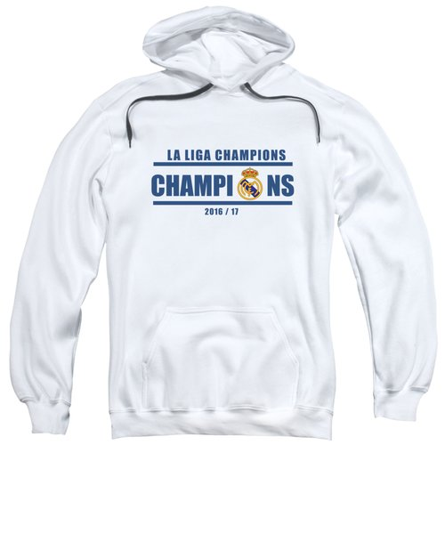 Real Madrid La Liga Champions  Sweatshirt by Ipoy Juki
