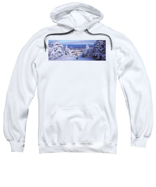 Rear View Of A Person Skiing, Stratton Sweatshirt