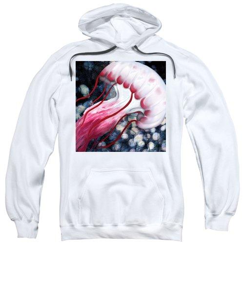 Red And White Jellyfish  Sweatshirt
