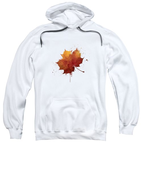 Red Autumn Leaf Sweatshirt by Thubakabra