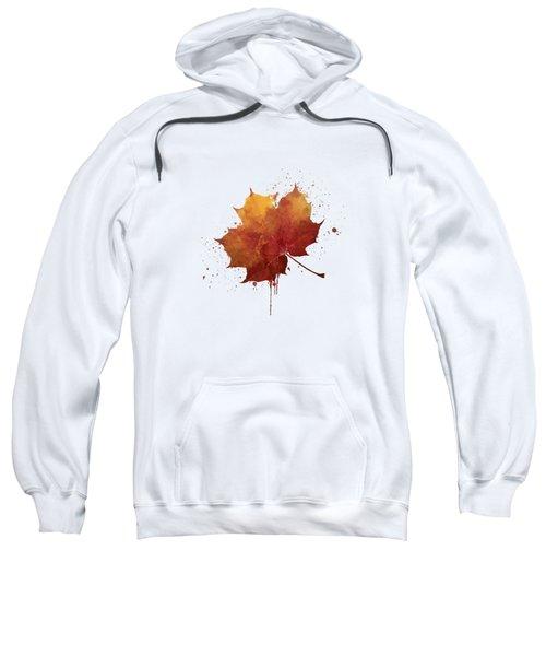 Red Autumn Leaf Sweatshirt