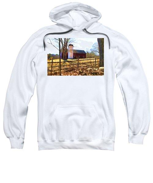 Red Barn And Silo  Sweatshirt