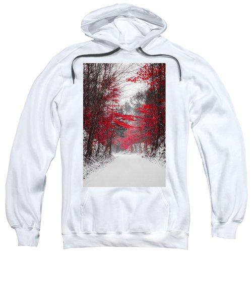 Red Blossoms  Sweatshirt
