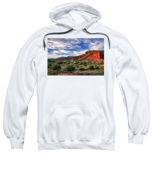 Red Cliffs Of Caprock Canyon Sweatshirt
