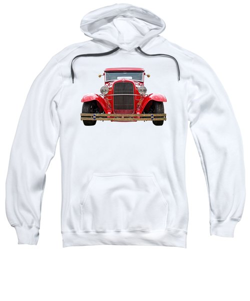 Red Ford Coupe Head On Sweatshirt