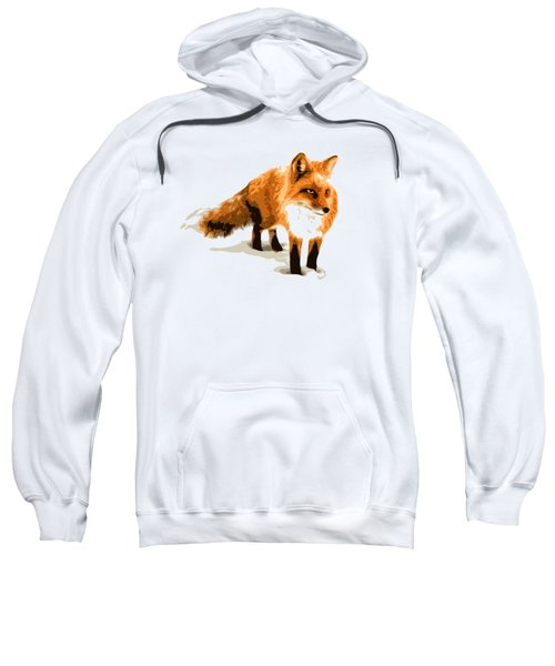 Red Fox In Winter Sweatshirt