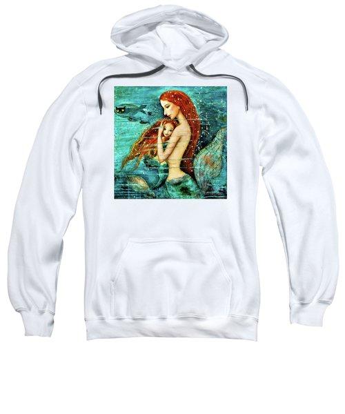 Red Hair Mermaid Mother And Child Sweatshirt