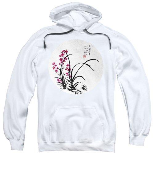 Red Iris - Round Sweatshirt