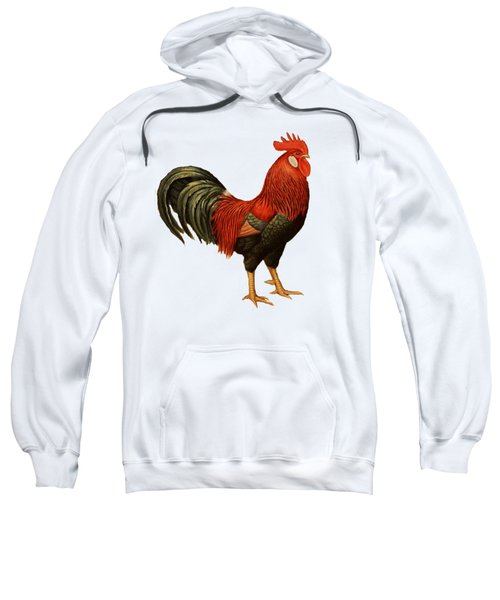 Red Leghorn Rooster Sweatshirt by Unknown