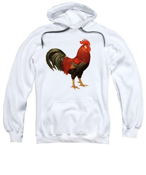 Red Leghorn Rooster Sweatshirt