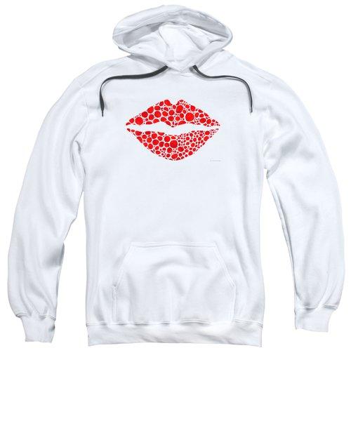 Red Lips Art - Big Kiss - Sharon Cummings Sweatshirt