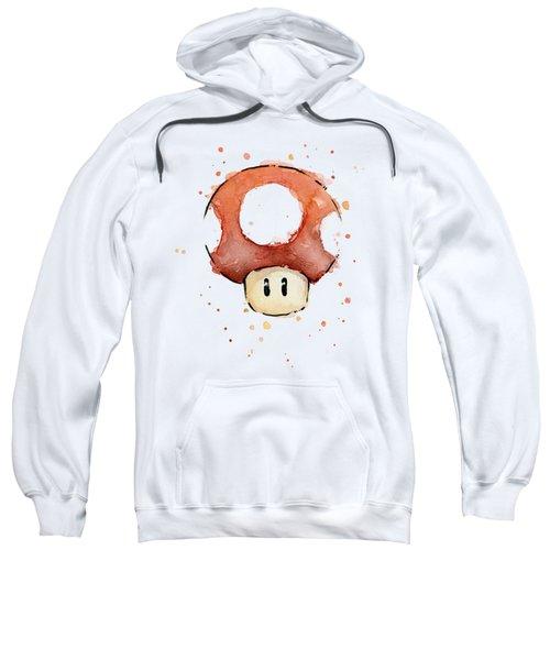Red Mushroom Watercolor Sweatshirt