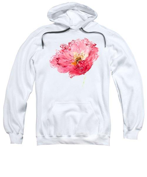 Red Poppy Painting Sweatshirt