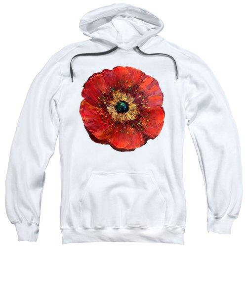 Red Poppy Transparent  Sweatshirt