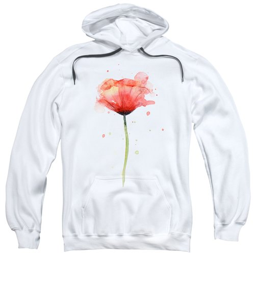 Red Poppy Watercolor Sweatshirt