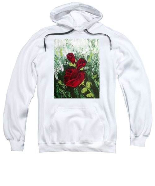Red Roses In Bloom Sweatshirt by Roxy Rich