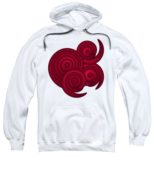 Red Spirals Sweatshirt