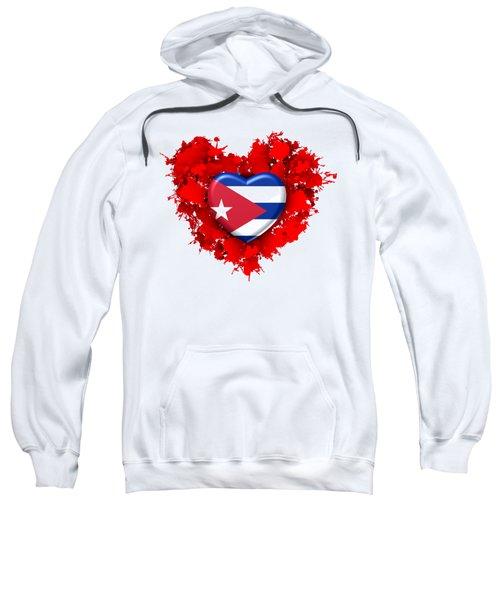 Red Stain Love To Cuba Sweatshirt