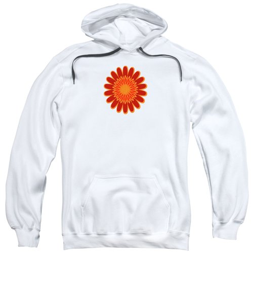 Red Sunflower Pattern Sweatshirt by Methune Hively