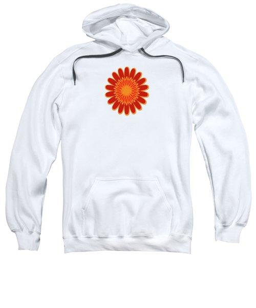 Red Sunflower Pattern Sweatshirt