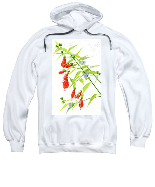 Red Turks Cap Hibiscus Sweatshirt