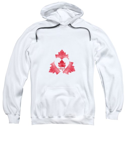 Red White And Canadian Sweatshirt by Kathleen Sartoris