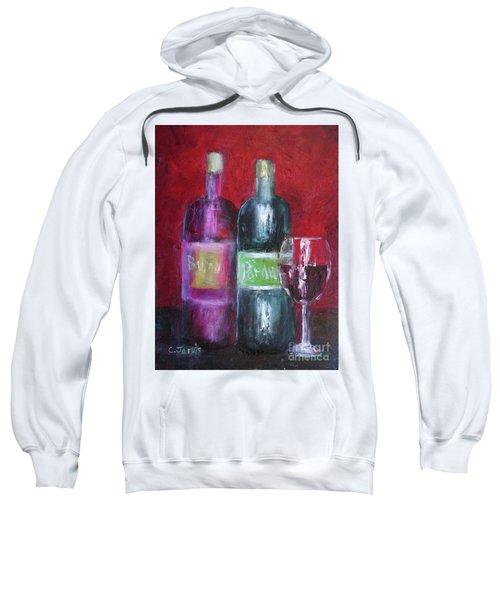 Red Wine Art Sweatshirt