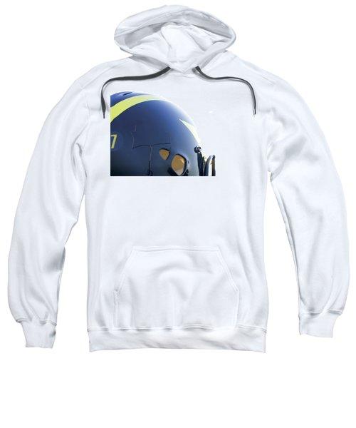 Reflection Of Goal Post In Wolverine Helmet Sweatshirt