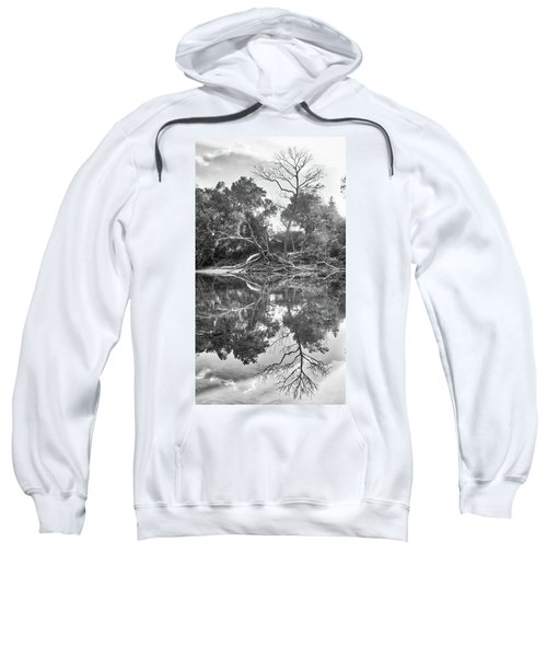 Reflections In Black And White Sweatshirt