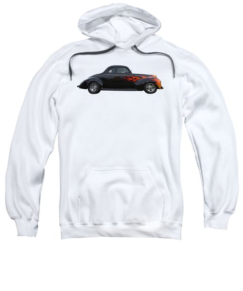 Reflections Of A 1940 Ford Deluxe Hot Rod With Flames Sweatshirt