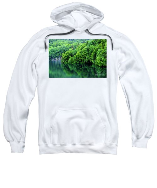 Reflections Of Plitvice, Plitvice Lakes National Park, Croatia Sweatshirt