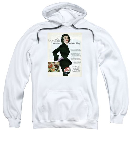 Sweatshirt featuring the digital art Refreshes Without Filling by Reinvintaged