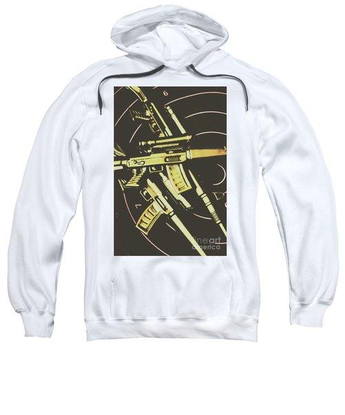 Retro Guns And Targets Sweatshirt