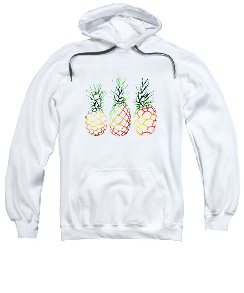 Retro Pineapples Sweatshirt by Sam Nagel