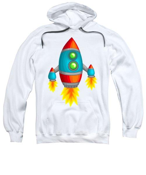 Retro Rocket Sweatshirt by Brian Kemper