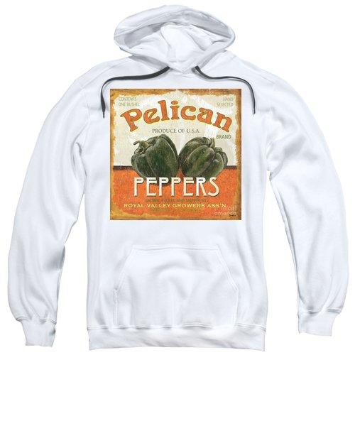 Retro Veggie Labels 3 Sweatshirt