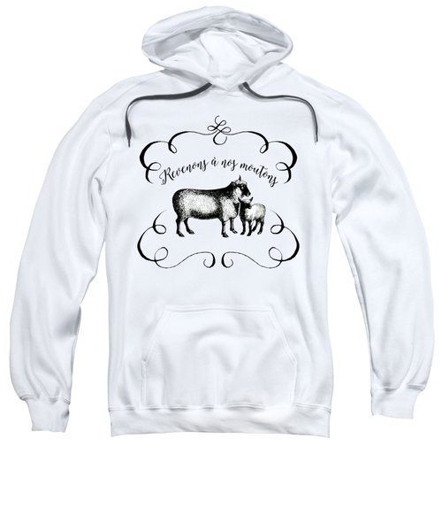 Revenons A Nos Moutons Sweatshirt by Antique Images