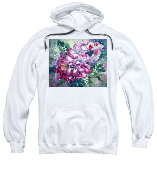Rhododendron And Lily Of The Valley Sweatshirt